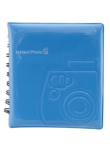 Fujifilm instax mini Film Uyumlu Mavi 64'lü Kare Albüm Renkli